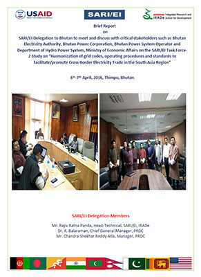 15.Brief Report on SARI-EI Technical Delegation to Bhutan-6th-7th April, 2016 for Grid Code Haromonization